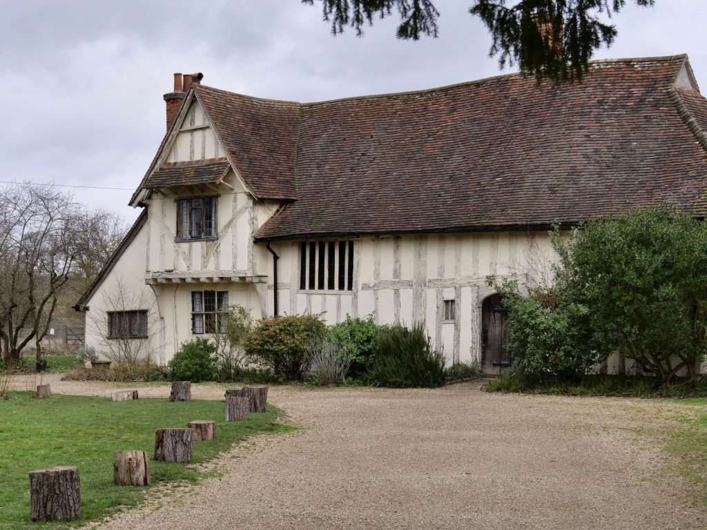 Valley Farm at Flatford, Suffolk. Valley Farm is a mid-15th century, medieval Great Hall House that was home to wealthy yeoman farmers up until the early 1900s.