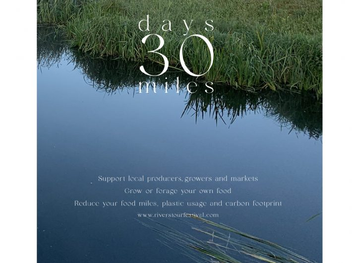 30 Days 30 Miles campaign image of blue water in the River Stour