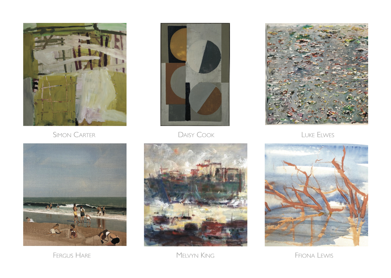 6 pieces of artwork on the themese Shore