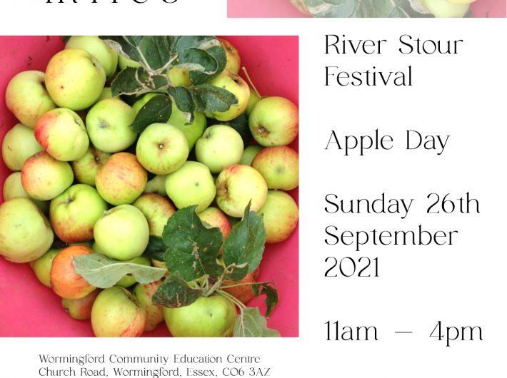 Poster advertising River Stour Festival Apple Day.
